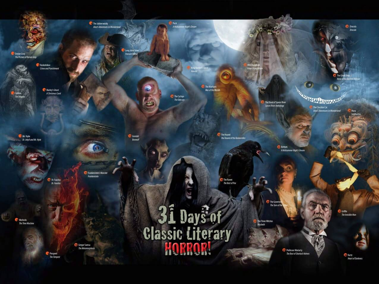 31 Days of Classic Literary Horror Poster