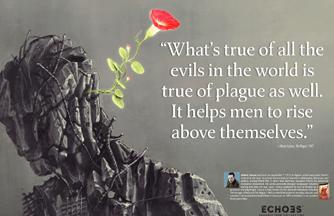 Albert Camus The Plague Poster