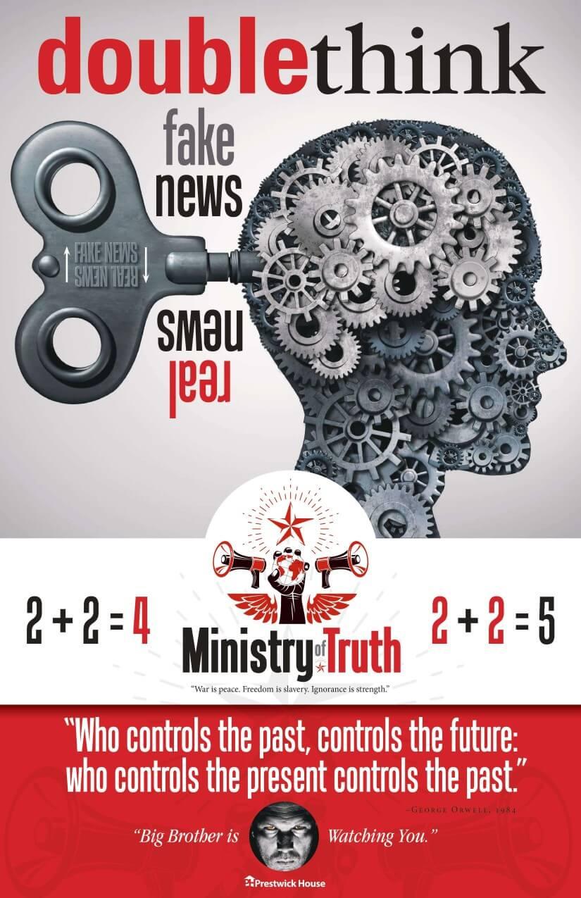 1984 Fake News Poster