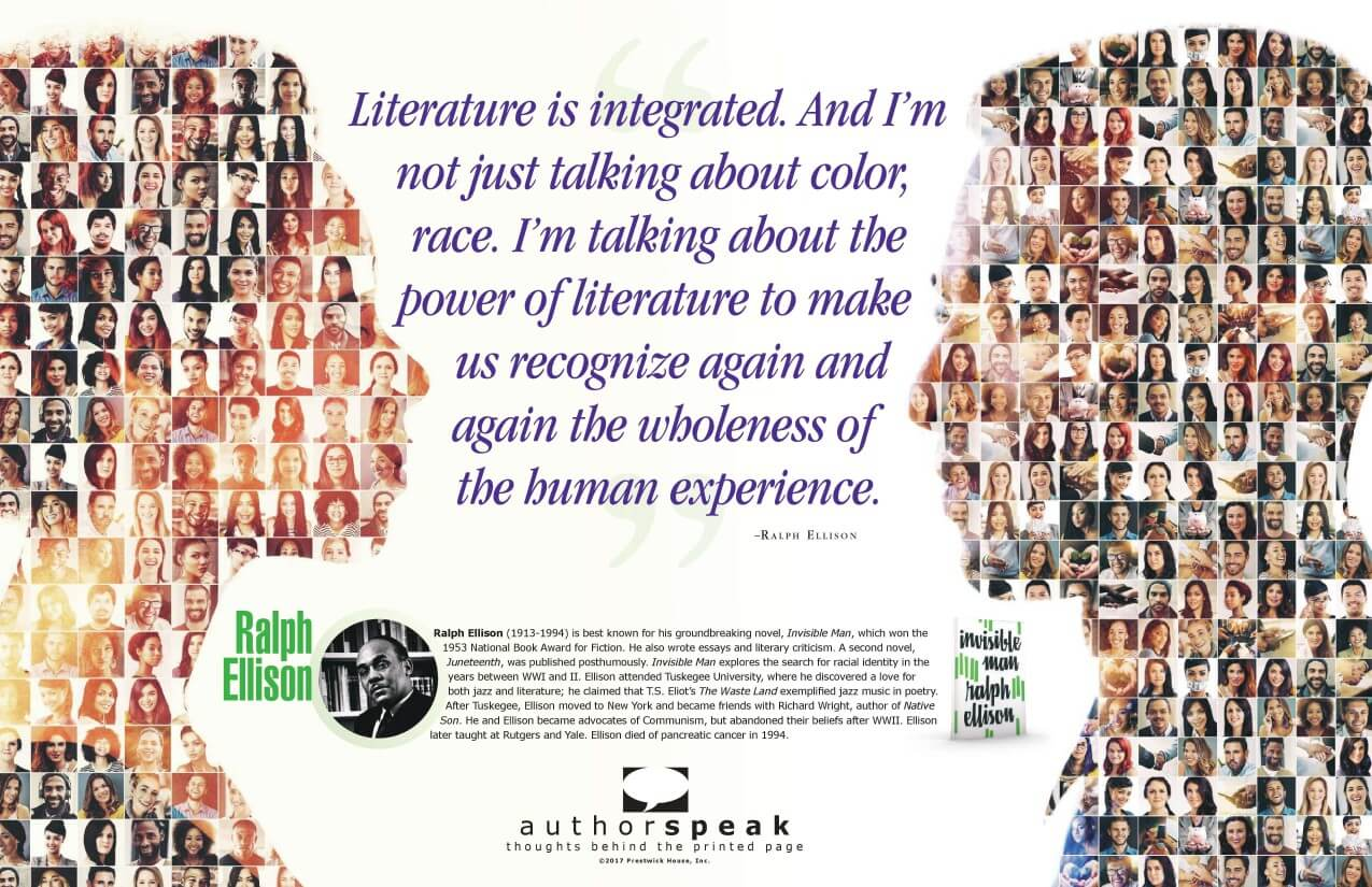 AuthorSpeak: Ralph Ellison Free Poster