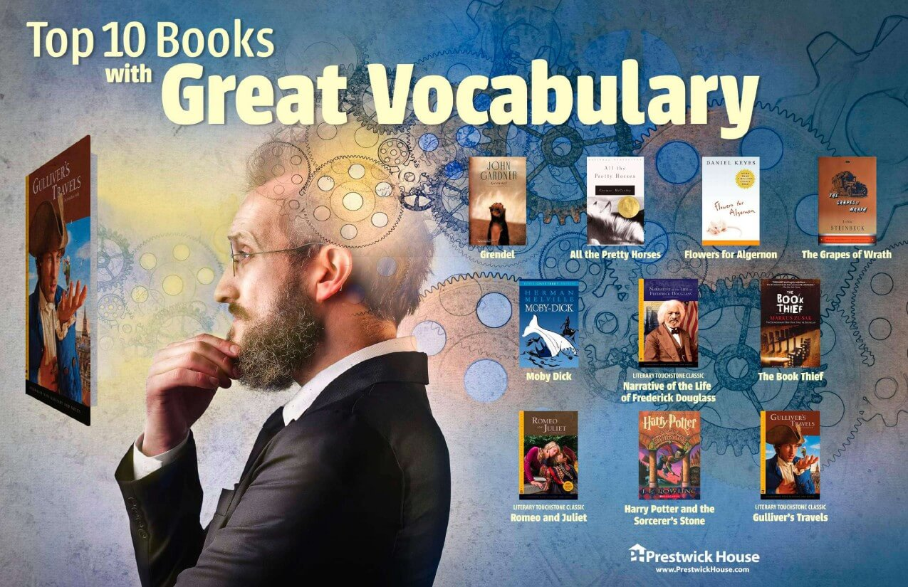 10 Books with Great Vocabulary Poster