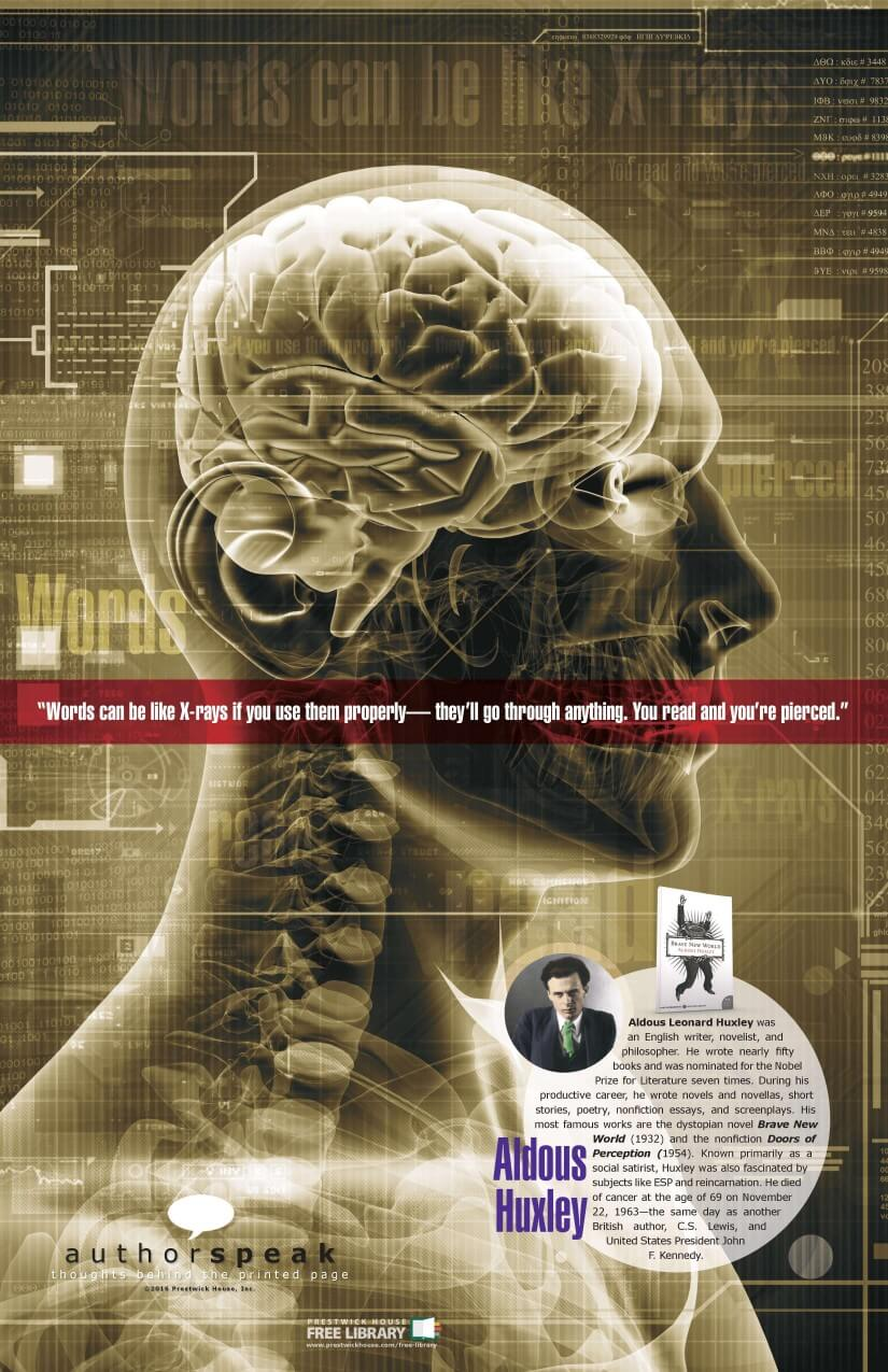 AuthorSpeak Aldous Huxley Poster