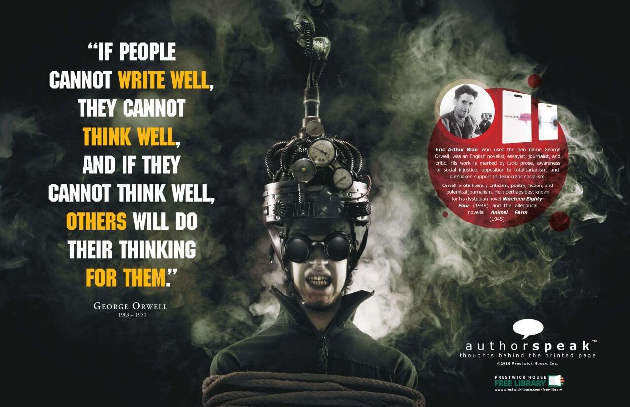 AuthorSpeak George Orwell Poster