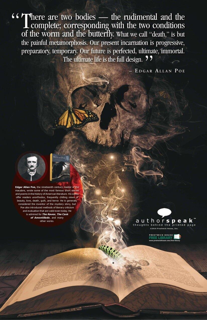 AuthorSpeak Edgar Allan Poe Poster